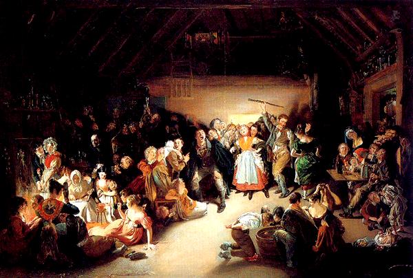 Snap-Apple Night – obraz pędzla Daniela Maclise'a z1833 roku przedstawiający ludzi bawiących się iwróżących 31 października.