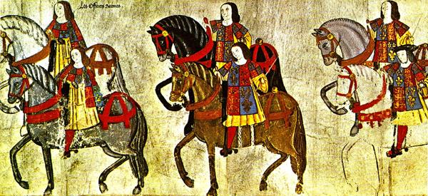 Angielscy rycerze króla Henryka VIII podczas uroczystego turnieju. ©Wikimedia Commons.