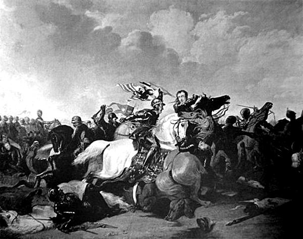 W bitwie podBosworth Henryk odniósł zwycięstwo nadówczesnym królem, Ryszardem III, ijeszcze napolu walki symbolicznie nałożono mu naskronie koronę. ©&nbspWikimedia Commons.
