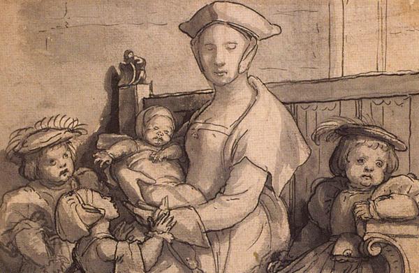 XVI-wieczne kobiety były pochłonięte nietylkocodziennymi obowiązkami związanymi zprowadzeniem domu, aletakże zwychowaniem licznej gromadki dzieci. ©Wikimedia Commons.