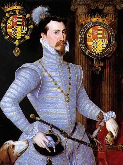 Lord Robert Dudley, pędzla nieznanego malarza angielskiego, wpływy niderlandzkie, ok.1563. ©Wikimedia Commons.
