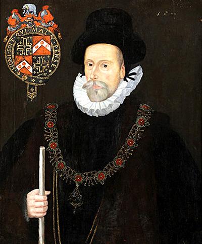 Portret sir Francisa Knollysa, autorstwa nieznanego artysty. ©Wikimedia Commons.