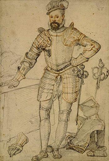Rycina ukazująca Roberta Dudleya, najważniejszego zfaworytów Elżbiety. ©Wikimedia Commons.