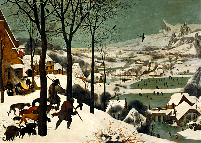 The Hunters in the snow (Myśliwi na śniegu), Peter Brueghel, 1565. © Wikimedia Commons.
