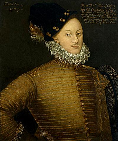 Edward de Vere. Czyrzeczywiście był synem Elżbiety iThomasa, owocem skandalu? ©Wikimedia Commons.