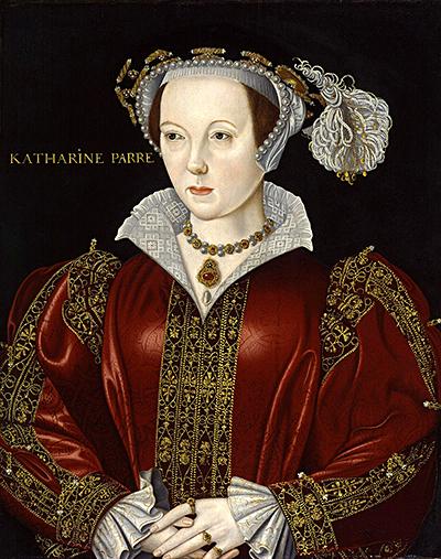 Katarzyna Parr jako troskliwa macocha poślubie zThomasem Seymourem przyjęła księżniczkę Elżbietę podswój dach. ©Wikimedia Commons.