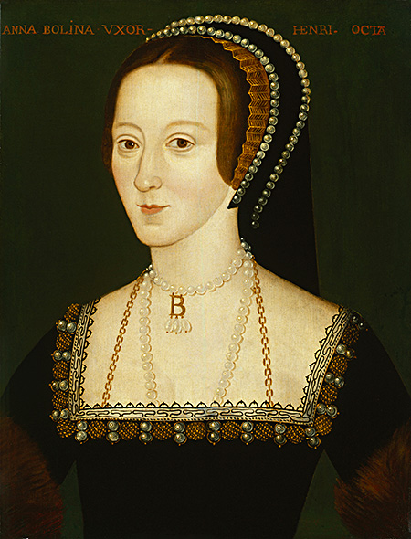 Miłość inamiętność doAnny Boleyn spowodowały, żeHenryk VIII zostawił Katarzynę iwbrew woli papieża poślubił nową wybrankę. ©Wikimedia Commons.