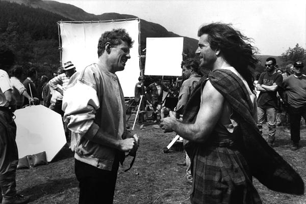 """Mel Gibson podczas realizacji filmu """"Braveheart"""", 1995 rok. ©Wikimedia Commons, Scott Neeson."""
