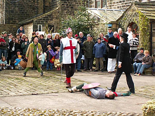 Święty Jerzy zabija przeciwnika. ©Wikimedia Commons.