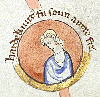 Wizerunek Hardekanuta. ©Wikimedia Commons.