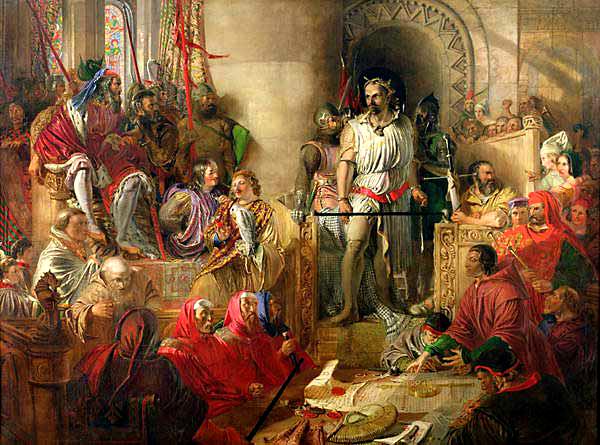 Proces Williama Wallace'a wWestminsterze. ©Wikimedia Commons.