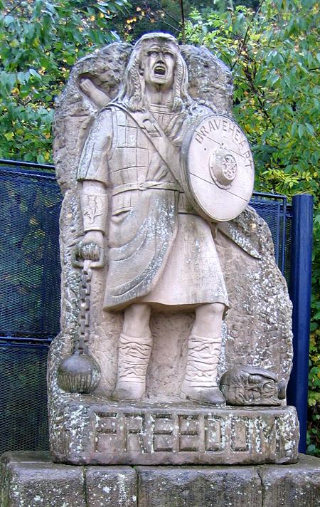 Freedom – pomnik wzniesiony whołdzie Williamowi Wallace'owi ijego walce owolność. ©Wikimedia Commons, Rudolph Botha.