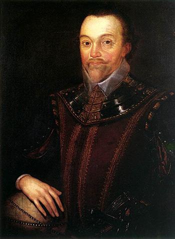 Francis Drake, najsłynniejszy pirat królowej Elżbiety. ©Wikimedia Commons.