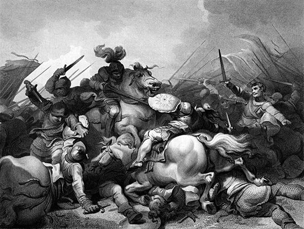 Henryk, hrabia Richmond, pokonał Ryszarda III wbitwie podBosworth. ©Wikimedia Commons.