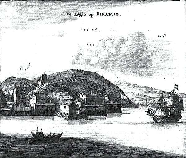 Baza handlowa Holendrów naHirado. ©Wikimedia Commons, domena publiczna.