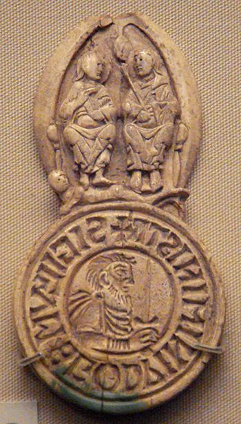 Pieczęść Godwina, earla Wessexu. ©Wikimedia commons, domena publiczna.