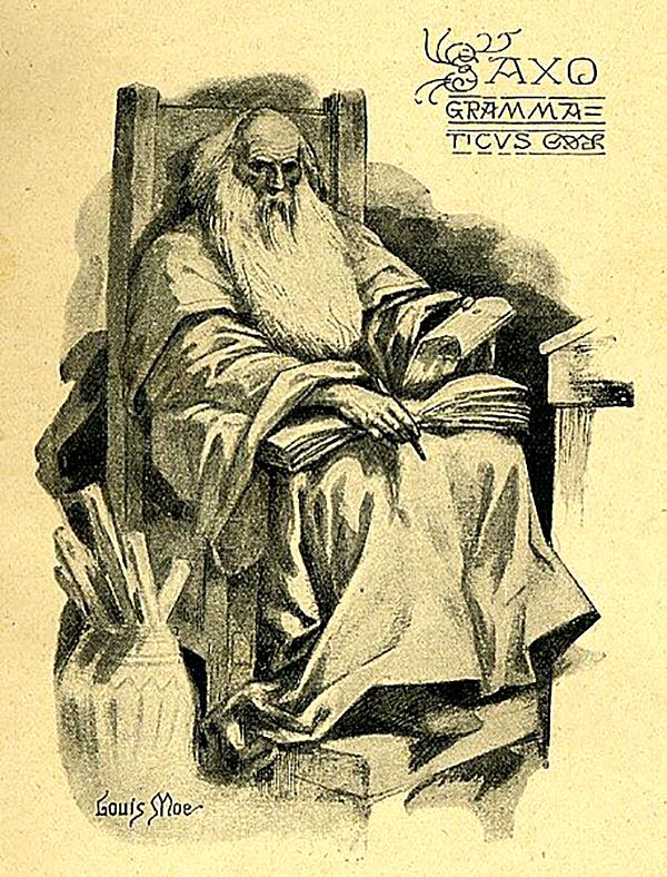 Saxo Grammaticus, duński kronikarz. ©Wikimedia Commons.