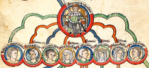 Henryk II ijego dzieci zrodzone wlegalnym związku. ©Wikimedia Commons, domena publiczna.