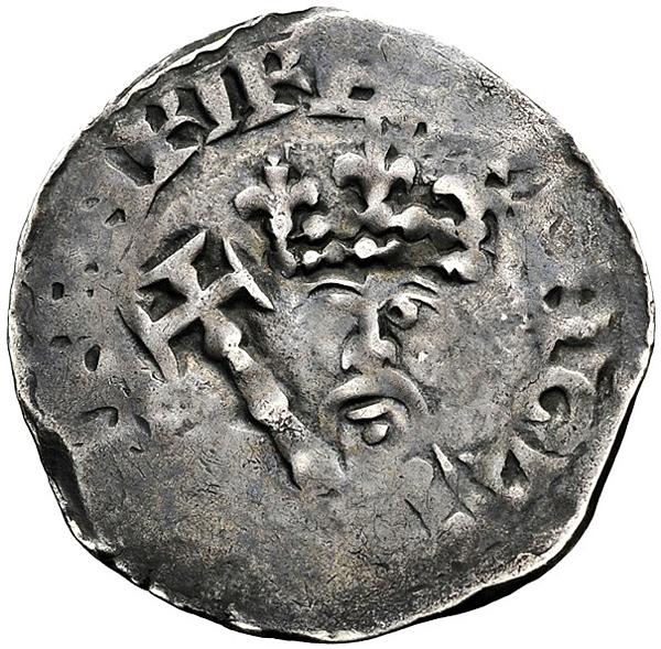 Srebrna moneta zwizerunkiem Henryka II. ©Wikimedia Commons, domena publiczna.