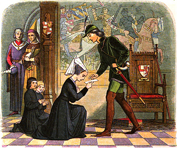 Elżbieta Woodville, wdowa poJohnie Greyu, przedkrólem Edwardem IV, swoim przyszłym mężem. ©Wikimedia Commons, domena publiczna.