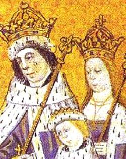 Król Edward IV zkrólową Elżbietą isynem Edwardem (V). ©Wikimedia Commons, domena publiczna.