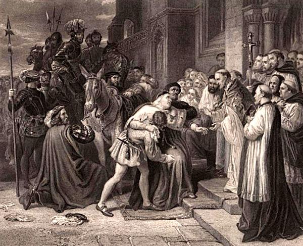 Schorowany Wolsey wopactwie wLeicster, nakilka dni przedswoją śmiercią. ©Wikimedia Commons, domena publiczna.