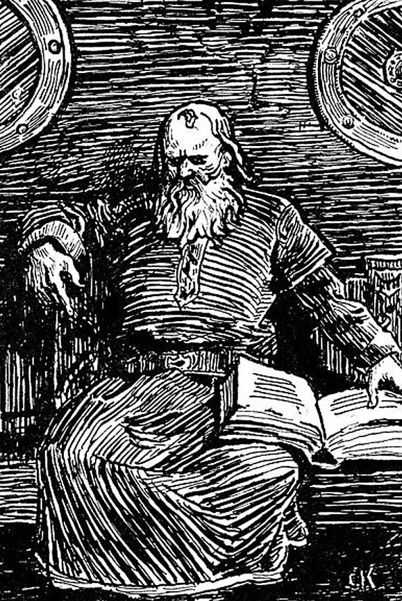 Snorri Sturluson jest autorem zbioru sag onorweskich królach. ©Wikimedia Commons, domena publiczna.
