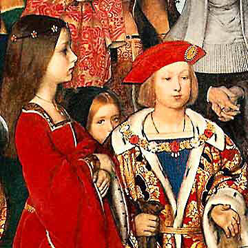 Książę Henryk (przyszły Henryk VIII) ijego siostry – dzieci Henryka VII iElżbiety York. ©Wikimedia Commons, domena publiczna.