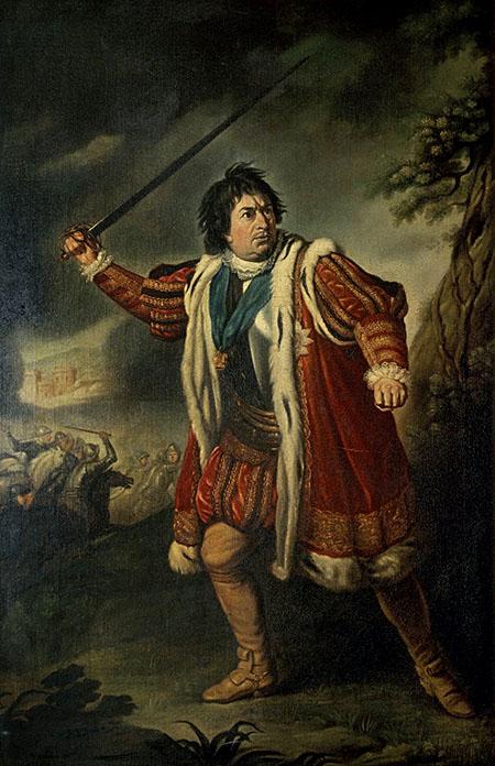 David Garrick, angielski aktor idramaturg, jako Ryszard III. ©Wikimedia Commons, Folger Shakespeare Library Digital Image Collection.