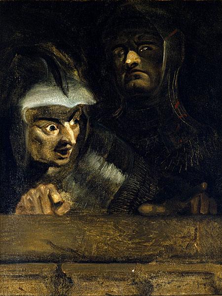 Dwaj mordercy księcia Clarence (ilustracja zesztuki Ryszard III Williama Szekspira, akt I, scena IV). ©Wikimedia Commons, Folger Shakespeare Library Digital Image Collection.