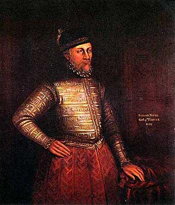 Richard Neville, hrabia Warwick, choć wcześniej był sojusznikiem króla Edwarda, stanął wkońcu przeciwko niemu, podburzając dozdrady także księcia Clarence. ©Wikimedia commons, domena publiczna.