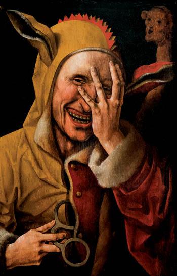 Błazen wstroju zoślimi uszami. ©Wikimedia Commons, domena publiczna.