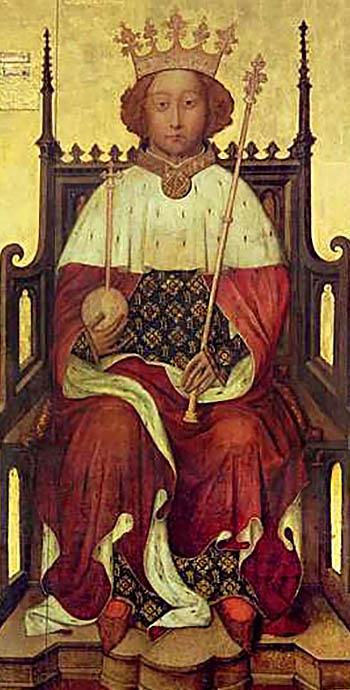 Portret Ryszarda II. ©Wikimedia Commons, domena publiczna