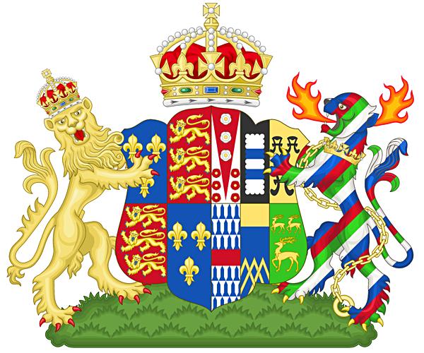 Herb Katarzyny Parr jako królowej małżonki. ©Wikimedia Commons, domena publiczna.