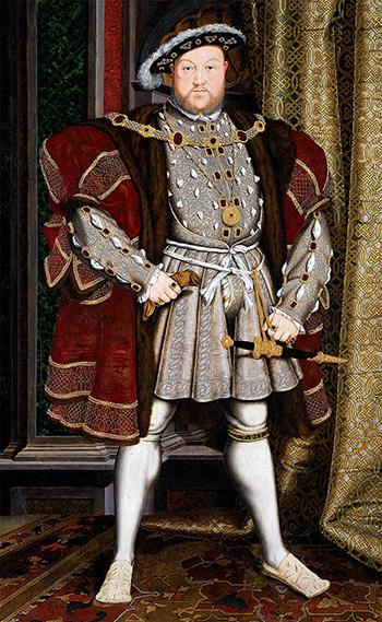 Henryk VIII otrzymał odpapieża Leona X honorowy tytuł Obrońcy Wiary. Wikimedia Commons, domena publiczna.