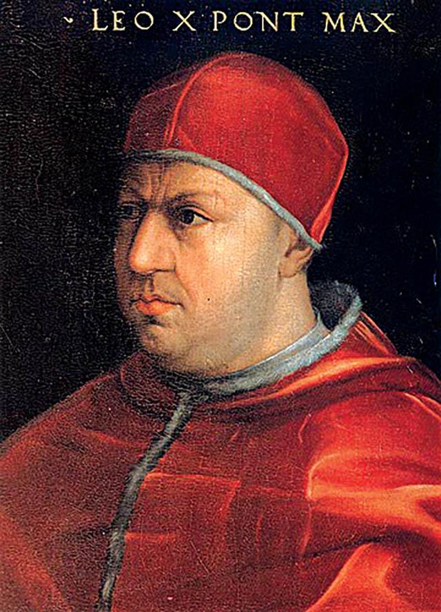 Papież Leon X nadał Henrykowi tytuł Obrońcy Wiary, aMarcina Lutra obłożył ekskomuniką. Wikimedia Commons, domena publiczna.