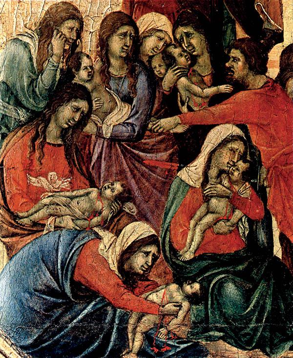 Święci Młodziankowie naobrazie Duccio di Buoninsegni. Wspomnienie Świętych Młodzianków Męczenników przypadało czwartego dnia świąt, 28 grudnia. ©Wikimedia Commons, domena publiczna.