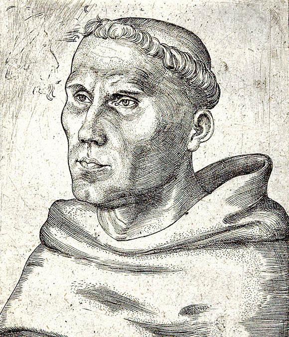 Dziewięćdziesiąt pięć tez Marcina Lutra godziło wówczesną teologię. Wikimedia Commons, domena publiczna.