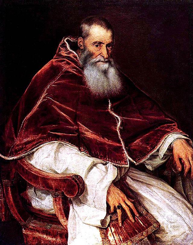 Papież Paweł III odebrał Henrykowi tytuł Obrońcy Wiary nadany mu przezLeona X. Wikimedia Commons, domena publiczna.