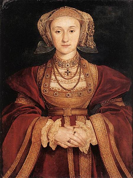 Swoją przyszłą żonę, Annę Kliwijska, Henryka powitał wstroju Robin Hooda. Niestety dama serca nierozpoznała swojego rycerza… ©Wikimedia Commons, domena publiczna.