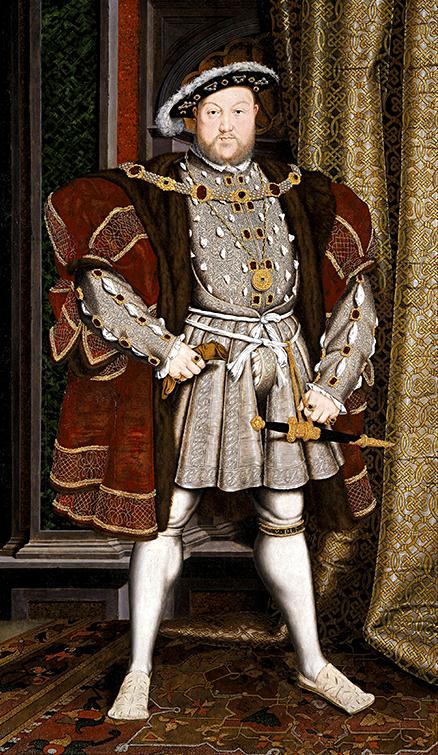 Słynny portret Henryka VIII pędzla Hansa Holbeina młodszego. ©Wikimedia Commons, domena publiczna
